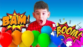 Learn Colors with Balloons!  Baby Songs Finger Family Nursery Rhymes for kids Learn colors