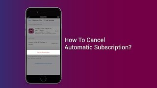 How To Cancel Automatic Subscription In Numero eSIM