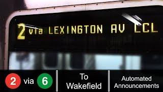 ᴴᴰ R142 2 Train via Lexington  Av Local Line - To Wakefield 241 St