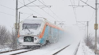 Live Train 24/7  Cab Ride - Train Driver's View in the World Railway Line in WINTER ! Best Awesome thumbnail