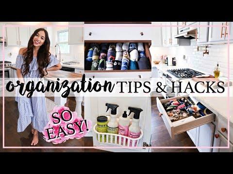 ORGANIZATION TIPS AND HACKS 2018! | Alexandra Beuter