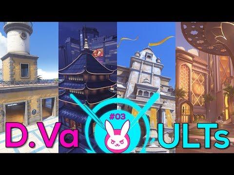 D.Va Ult Spots in Control Maps: ILIOS, LIJIANG, NEPAL & OASIS - Overwatch #31