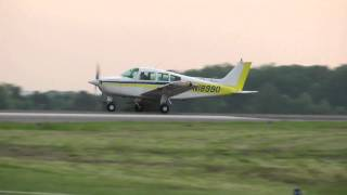 Beech Sundowner, N18990 Touch & Go at KHWY on 5/2/11 at 1925