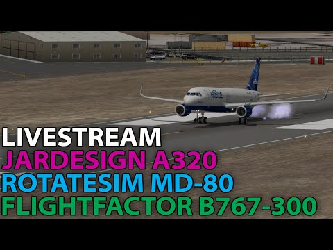 [Livestream] Multiple airliners in X-Plane 10 on PilotEdge | 2016-04-03