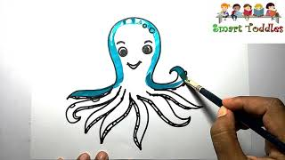 Learn How to Draw Octopus Coloring FOR Creative kids,Children,Toddlers #05