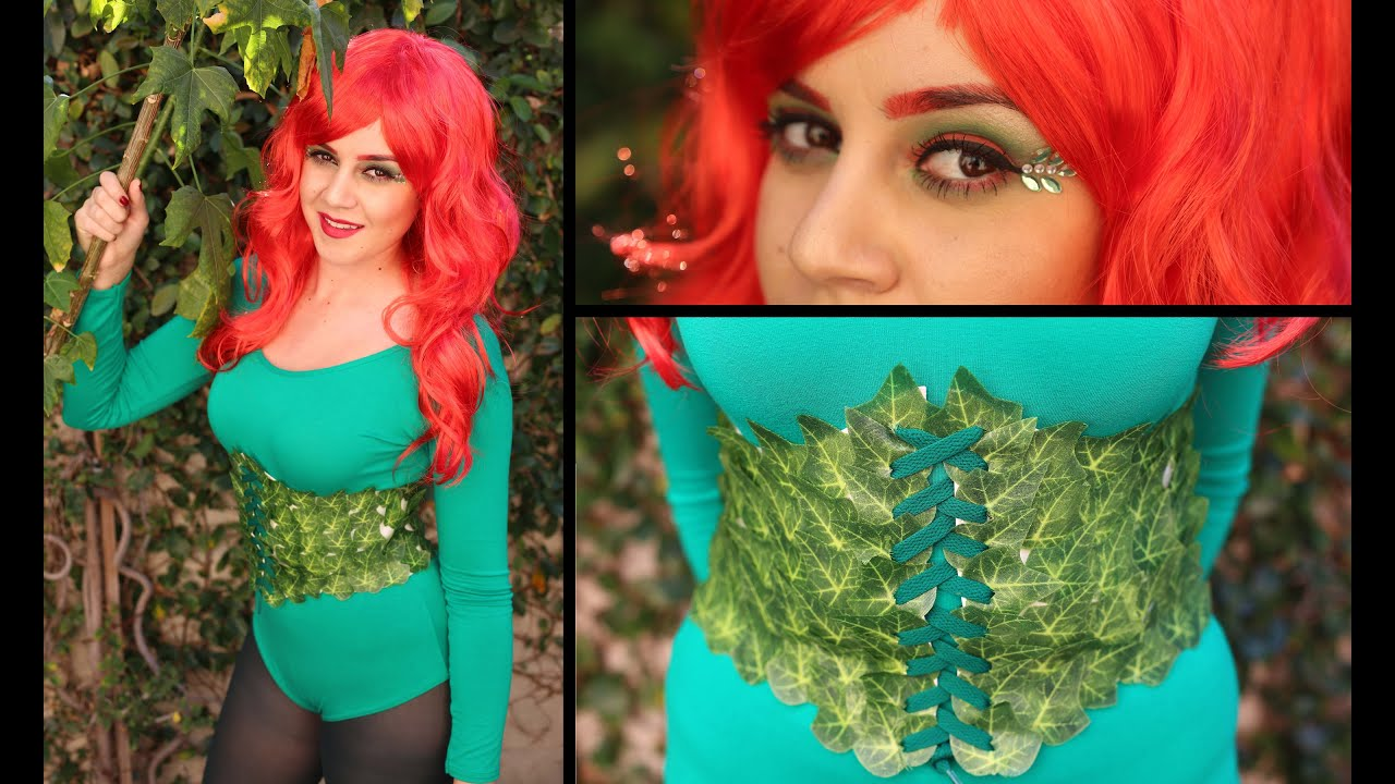 Diy super easy halloween costume poison ivy lucykiins youtube solutioingenieria Image collections