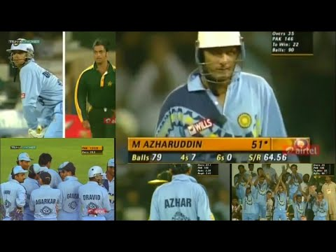 India's *SENSATIONAL VICTORY* Against Pakistan   SHARJAH COCA COLA CUP   2nd Match , 2000