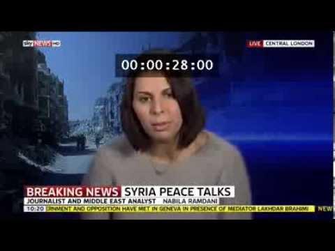 Nabila Ramdani - Sky News - Syria Geneva II Talks - 25 January 2014