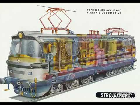 Inside Electric Train Engine