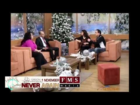 """NEVER AGAIN"" TV show on Armenia TV with Flora Martirosian and Karen Fidanyan"