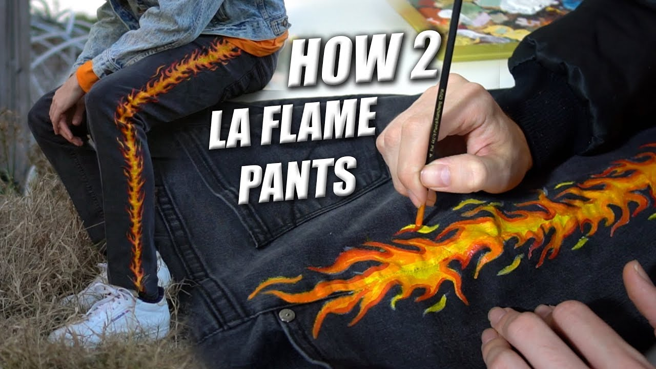 How To La Flame Denim Tutorial Custom Paint Jeans