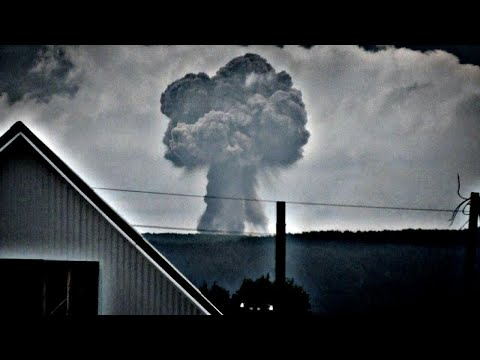 Пожар на военных складах в Каменке. Взрывы не далеко от Ачинска.