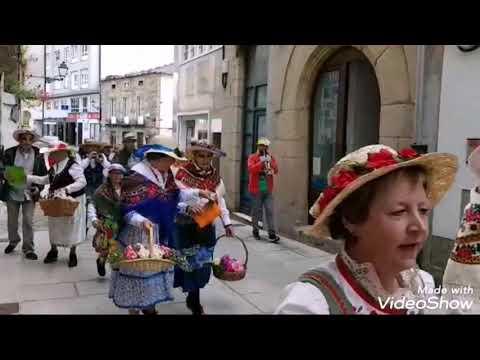 Desfile dos maios en Viveiro
