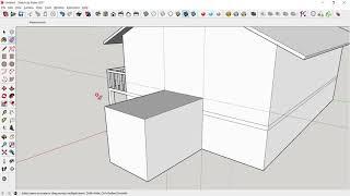 20210117 스케치업 일자형주택모델링