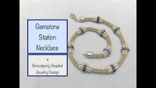 Sodalite Gemstone Station Necklace