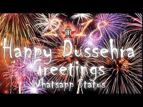 दशहरा Greetings   Happy Dussehra   शुभ दशहरा Greeting Video   Dussehra दशहरा WhatsApp Status Video