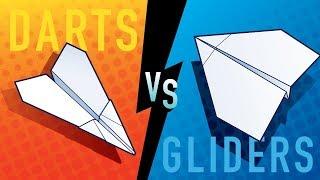 Darts vs Gliders — Paper Airplane Battle