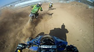 Quad VS Dirt bikes [HD]