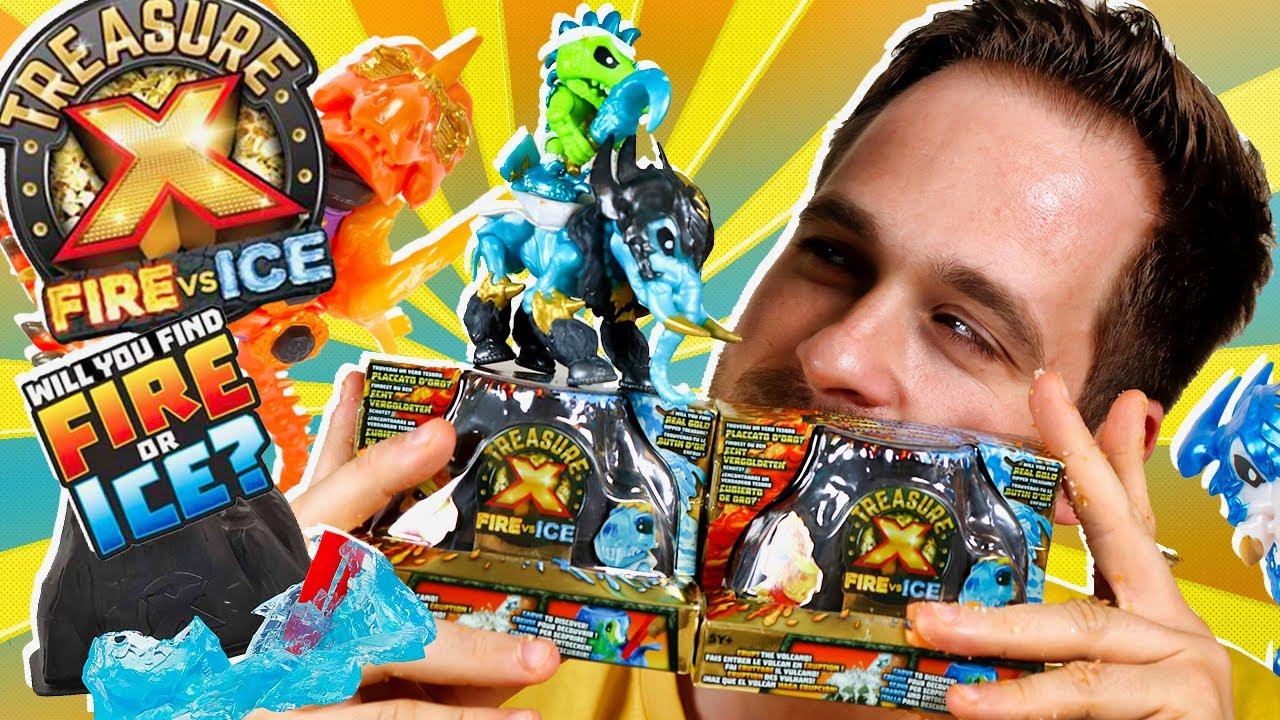 BESTIAS Treasure X Fire vs Ice Series 4 UNBOXING 2 EXTINCT BEASTS en Pe Toys