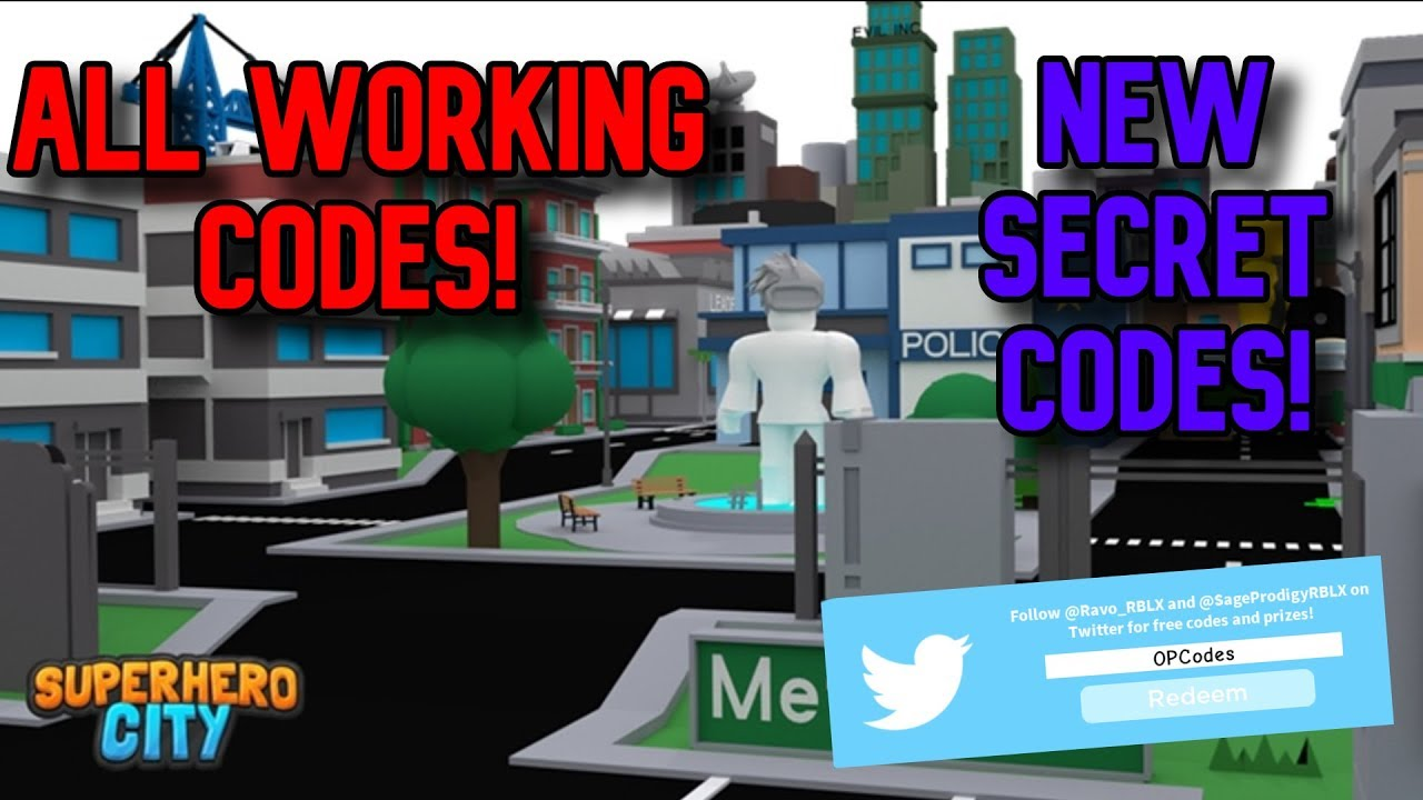 ALL WORKING *SECRET* CODES Roblox Superhero City