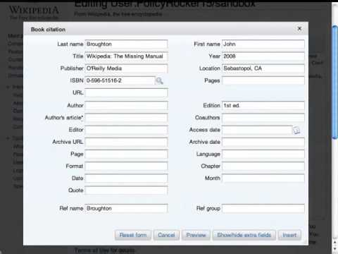 Wikipedia editing basics: Citing sources (part 2)