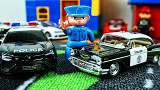 Машинки мультфильм - Полицейская машина, Пожарная машина  - Развивающие мультики