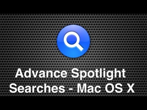 Spotlight Advance Searches - Search For System Files, By Size & Kind In Mac OS X
