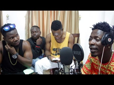 Shatta Wale & Macassio recording Session