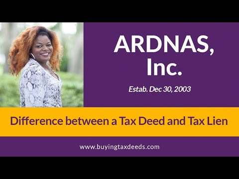 Difference Between A Tax Deed And Tax Lien