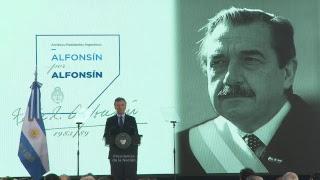 Inauguración de la muestra de objetos personales del Ex Presidente Raúl Alfonsin