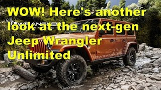 wow here s another look at the next gen jeep wrangler unlimited