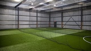 On Deck Sports: Fieldhouse Arena Artificial Turf & Custom Shell Netting Installation thumbnail