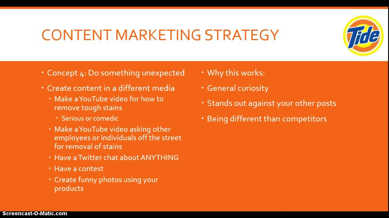 Marketing Strategy: Tide Detergent Essay