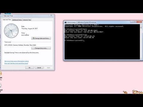 How to change date & time of your system using command prompt