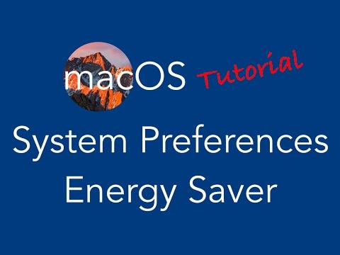 Mac OS Tutorial - System Preferences - Energy Saver for Laptop