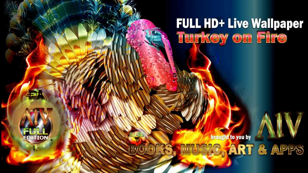 Turkey on Fire LWP HD+ Thanksgiving Live Wallpaper by AlV ...