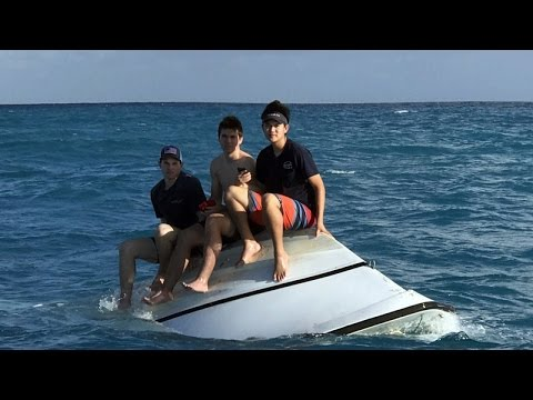 Teens Remain Calm As They Call 911 From Capsized Boat Off Florida Coast