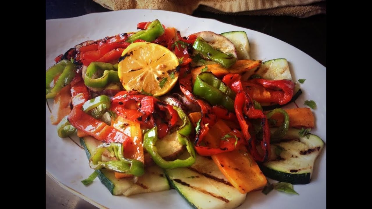 Parrillada de verduras grilled vegetables youtube for Parrillada verduras