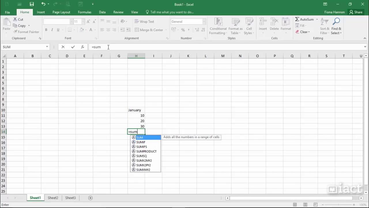The Formula Bar   Excel 20 Level 20