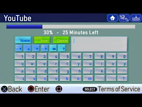 YouTube In PlayStation Portable