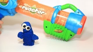 Cookie Monster Play-Doh is not having a good day. He learns NERF gu...