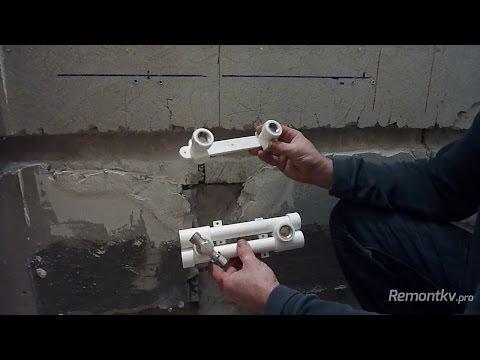 Замена, установка смесителя на кухне и в ванной