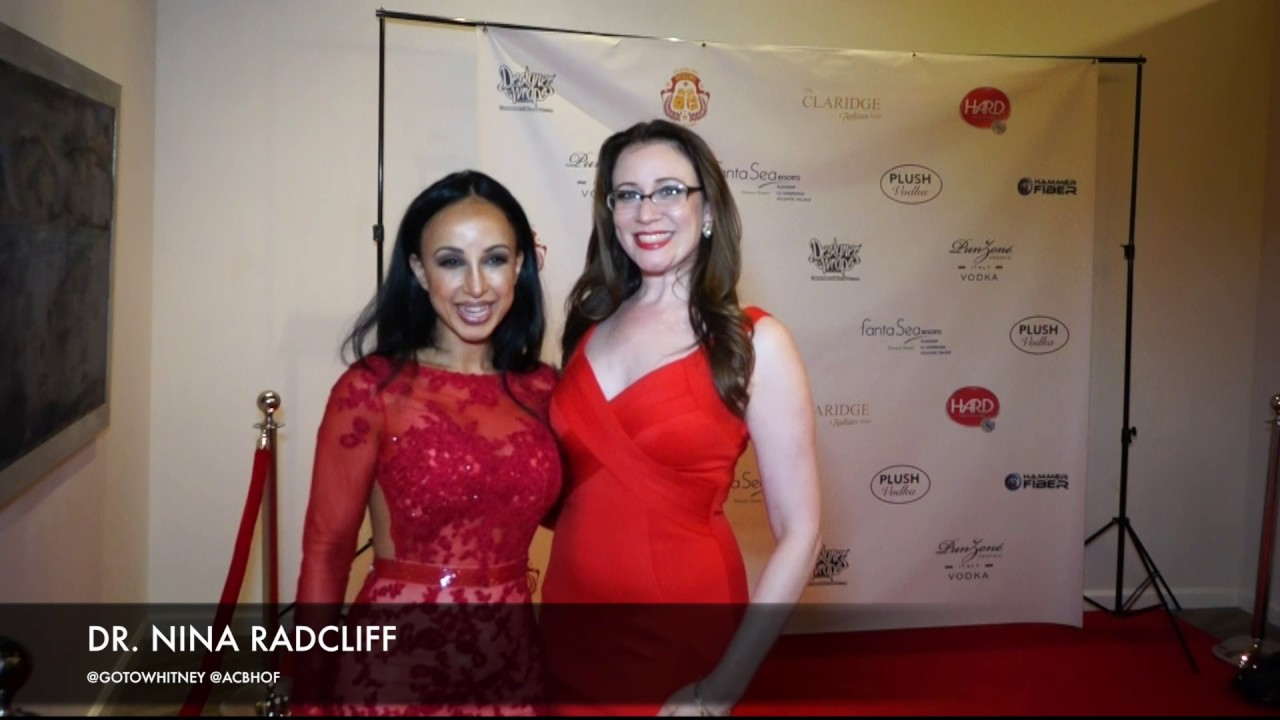 980b13fedaf Dr. Nina Radcliff Wearing Mac Duggal on the Red Carpet of the Atlantic City  Boxing Hall of Fame