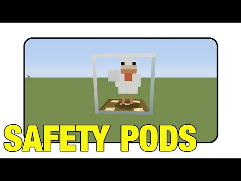 """Safety Pods """"Tutorial"""" (Minecraft Xbox 360/One/Ps3/Ps4 TU17)"""