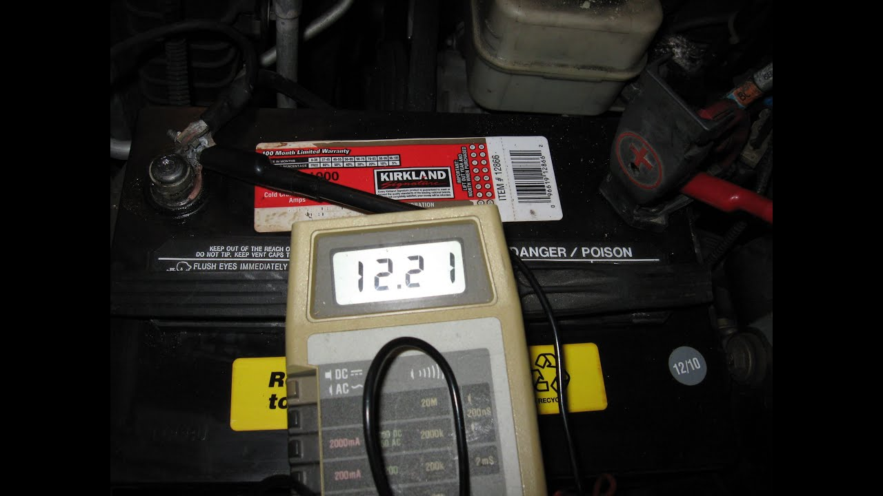 Ford Explorer wet battery over charge voltage test by froggy