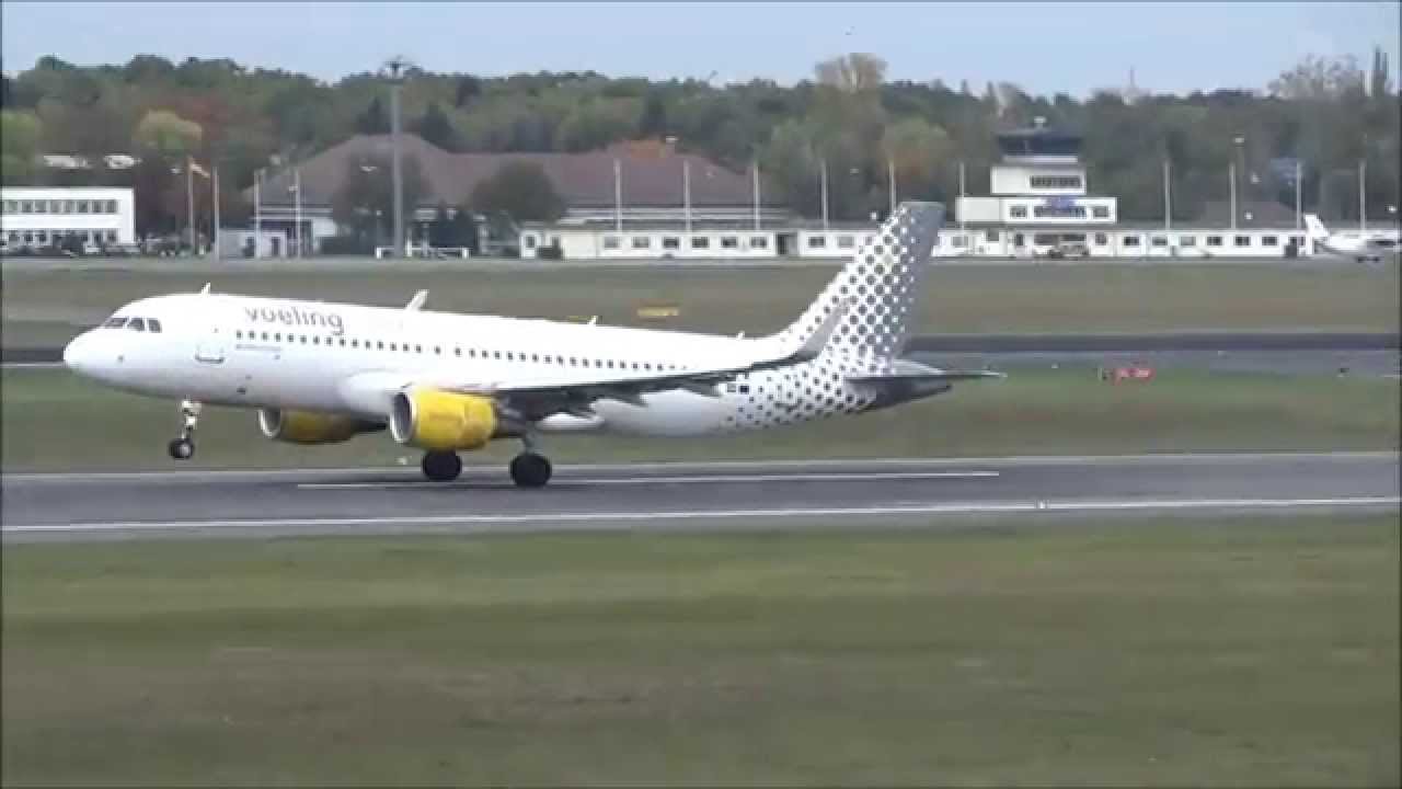 interesting landing of vueling berlin tegel youtube