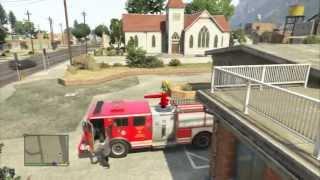 EL CAMION DE BOMBEROS!! - GTA 5