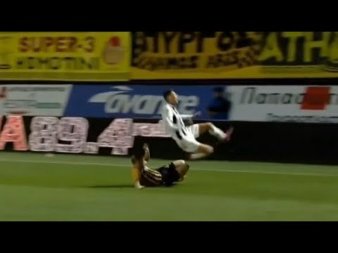 Defence is an Art - Crazy Tackles in Super League Greece ...