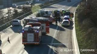 Trafikulykke på Amagermotorvejen marts 2019
