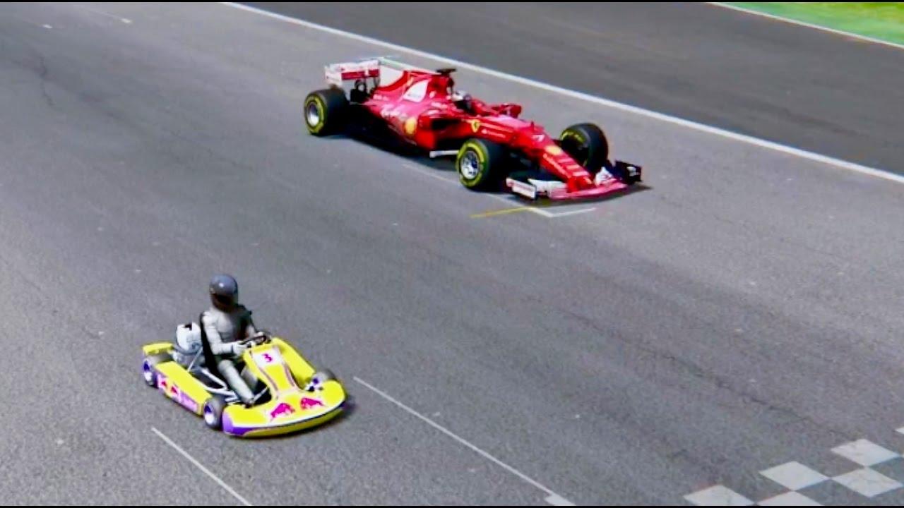 Ferrari F1 2017 Vs Go Kart 125 Imola